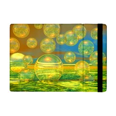 Golden Days, Abstract Yellow Azure Tranquility Apple Ipad Mini Flip Case