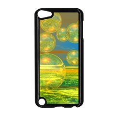 Golden Days, Abstract Yellow Azure Tranquility Apple iPod Touch 5 Case (Black)