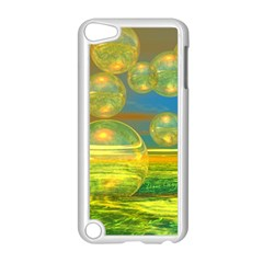 Golden Days, Abstract Yellow Azure Tranquility Apple iPod Touch 5 Case (White)