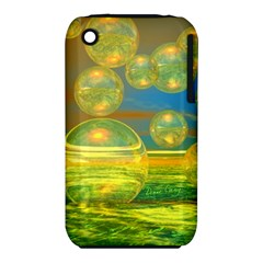 Golden Days, Abstract Yellow Azure Tranquility Apple Iphone 3g/3gs Hardshell Case (pc+silicone)
