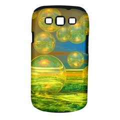 Golden Days, Abstract Yellow Azure Tranquility Samsung Galaxy S III Classic Hardshell Case (PC+Silicone)
