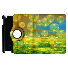 Golden Days, Abstract Yellow Azure Tranquility Apple iPad 2 Flip 360 Case