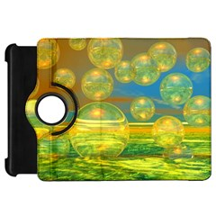 Golden Days, Abstract Yellow Azure Tranquility Kindle Fire HD 7  (1st Gen) Flip 360 Case