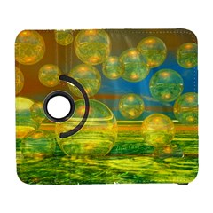 Golden Days, Abstract Yellow Azure Tranquility Samsung Galaxy S  III Flip 360 Case