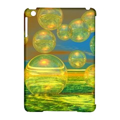 Golden Days, Abstract Yellow Azure Tranquility Apple iPad Mini Hardshell Case (Compatible with Smart Cover)