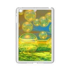 Golden Days, Abstract Yellow Azure Tranquility Apple Ipad Mini 2 Case (white)