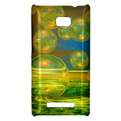 Golden Days, Abstract Yellow Azure Tranquility HTC 8X Hardshell Case