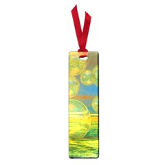 Golden Days, Abstract Yellow Azure Tranquility Small Bookmark