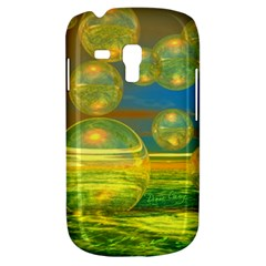 Golden Days, Abstract Yellow Azure Tranquility Samsung Galaxy S3 Mini I8190 Hardshell Case