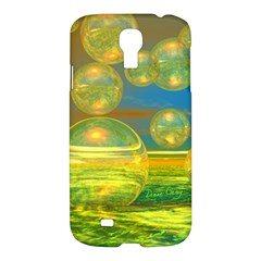Golden Days, Abstract Yellow Azure Tranquility Samsung Galaxy S4 I9500/I9505 Hardshell Case
