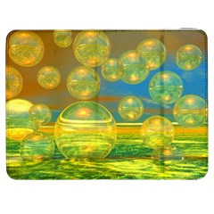 Golden Days, Abstract Yellow Azure Tranquility Samsung Galaxy Tab 7  P1000 Flip Case