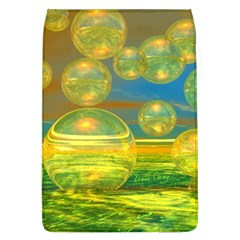 Golden Days, Abstract Yellow Azure Tranquility Removable Flap Cover (Large)