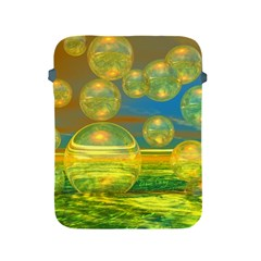Golden Days, Abstract Yellow Azure Tranquility Apple Ipad Protective Sleeve