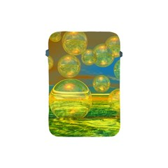 Golden Days, Abstract Yellow Azure Tranquility Apple Ipad Mini Protective Sleeve