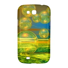 Golden Days, Abstract Yellow Azure Tranquility Samsung Galaxy Grand GT-I9128 Hardshell Case