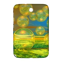 Golden Days, Abstract Yellow Azure Tranquility Samsung Galaxy Note 8.0 N5100 Hardshell Case