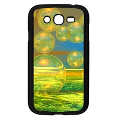 Golden Days, Abstract Yellow Azure Tranquility Samsung Galaxy Grand DUOS I9082 Case (Black)