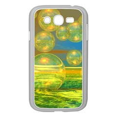 Golden Days, Abstract Yellow Azure Tranquility Samsung Galaxy Grand DUOS I9082 Case (White)