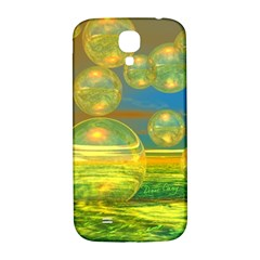 Golden Days, Abstract Yellow Azure Tranquility Samsung Galaxy S4 I9500/i9505  Hardshell Back Case