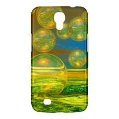 Golden Days, Abstract Yellow Azure Tranquility Samsung Galaxy Mega 6.3  I9200 Hardshell Case