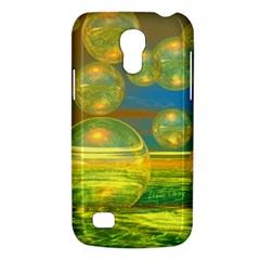 Golden Days, Abstract Yellow Azure Tranquility Samsung Galaxy S4 Mini (GT-I9190) Hardshell Case
