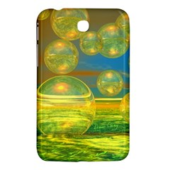 Golden Days, Abstract Yellow Azure Tranquility Samsung Galaxy Tab 3 (7 ) P3200 Hardshell Case