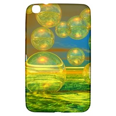 Golden Days, Abstract Yellow Azure Tranquility Samsung Galaxy Tab 3 (8 ) T3100 Hardshell Case