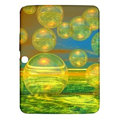 Golden Days, Abstract Yellow Azure Tranquility Samsung Galaxy Tab 3 (10 1 ) P5200 Hardshell Case