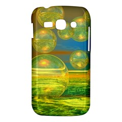 Golden Days, Abstract Yellow Azure Tranquility Samsung Galaxy Ace 3 S7272 Hardshell Case