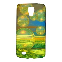 Golden Days, Abstract Yellow Azure Tranquility Samsung Galaxy S4 Active (i9295) Hardshell Case
