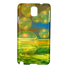 Golden Days, Abstract Yellow Azure Tranquility Samsung Galaxy Note 3 N9005 Hardshell Case