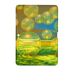 Golden Days, Abstract Yellow Azure Tranquility Samsung Galaxy Tab 2 (10 1 ) P5100 Hardshell Case