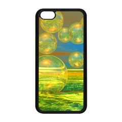 Golden Days, Abstract Yellow Azure Tranquility Apple Iphone 5c Seamless Case (black)