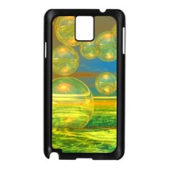 Golden Days, Abstract Yellow Azure Tranquility Samsung Galaxy Note 3 N9005 Case (black)