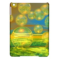 Golden Days, Abstract Yellow Azure Tranquility Apple iPad Air Hardshell Case
