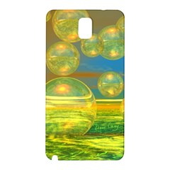 Golden Days, Abstract Yellow Azure Tranquility Samsung Galaxy Note 3 N9005 Hardshell Back Case