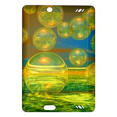 Golden Days, Abstract Yellow Azure Tranquility Kindle Fire HD 7  (2nd Gen) Hardshell Case