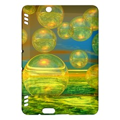 Golden Days, Abstract Yellow Azure Tranquility Kindle Fire Hdx 7  Hardshell Case