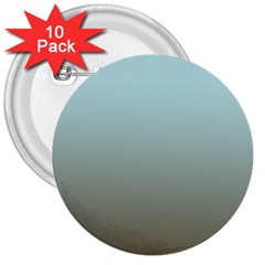 Blue Gold Gradient 3  Button (10 pack)