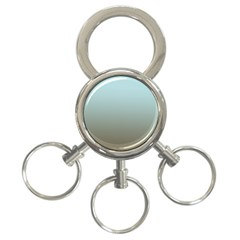 Blue Gold Gradient 3-Ring Key Chain