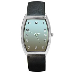 Blue Gold Gradient Tonneau Leather Watch