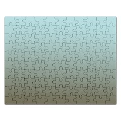 Blue Gold Gradient Jigsaw Puzzle (Rectangle)