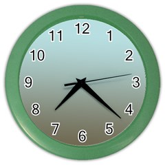 Blue Gold Gradient Wall Clock (color)