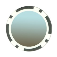 Blue Gold Gradient Poker Chip