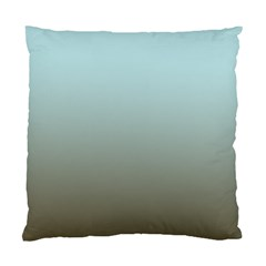 Blue Gold Gradient Cushion Case (Two Sided)