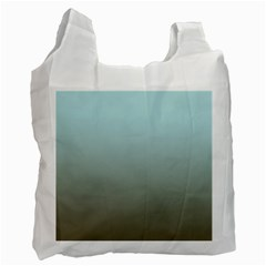 Blue Gold Gradient White Reusable Bag (Two Sides)