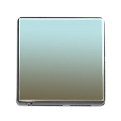 Blue Gold Gradient Memory Card Reader With Storage (square)