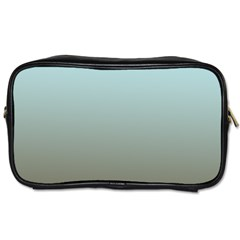 Blue Gold Gradient Travel Toiletry Bag (two Sides)