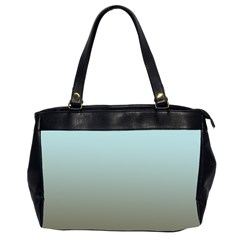 Blue Gold Gradient Oversize Office Handbag (Two Sides)