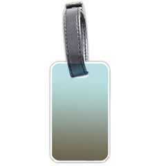 Blue Gold Gradient Luggage Tag (Two Sides)
